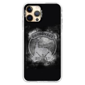 Odolné silikonové pouzdro Bumper - Škodovácí - Dark logo na mobil Apple iPhone 12 Pro