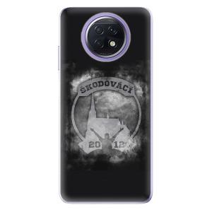 Odolné silikonové pouzdro iSaprio - Škodovácí - Dark logo na mobil Xiaomi Redmi Note 9T 5G