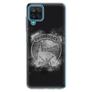 Plastové pouzdro iSaprio - Škodovácí - Dark logo na mobil Samsung Galaxy A12